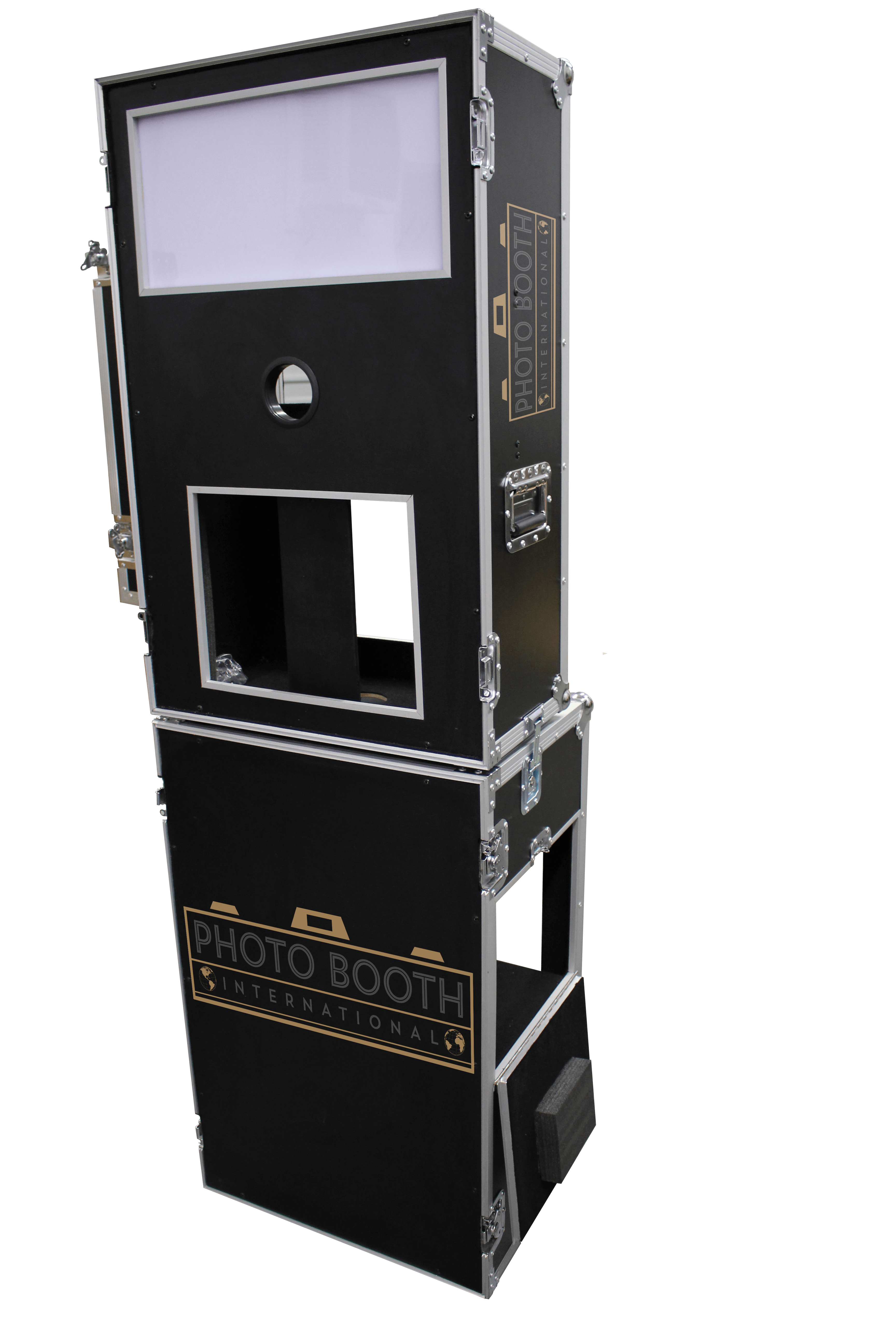 Black photo booth road case shell