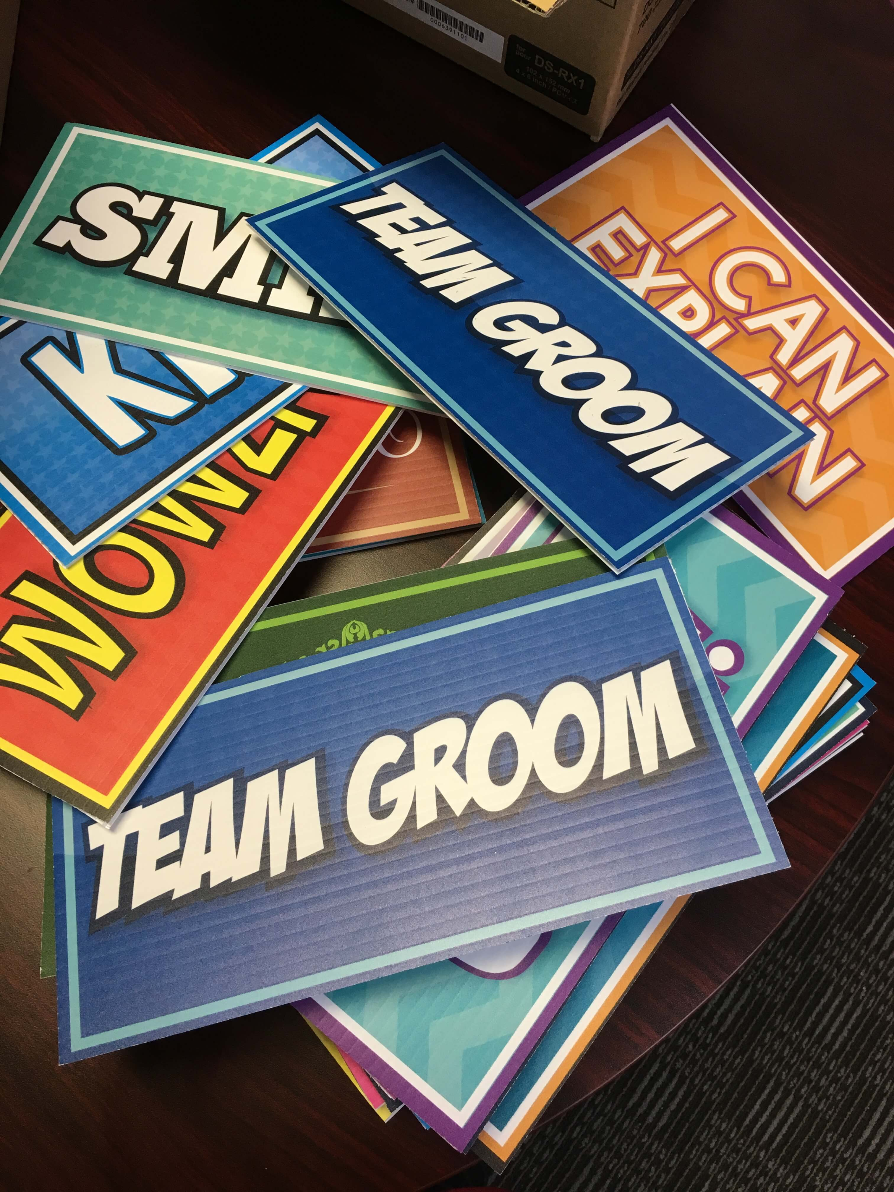 prop signs for photo booth rentals