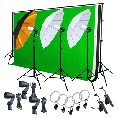Photo Video Studio Lighting Backdrop Kit
