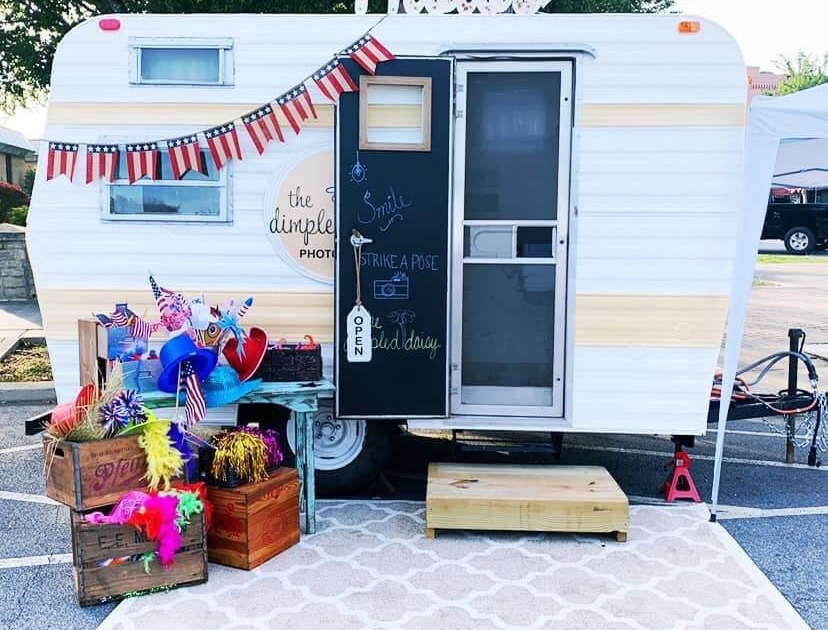 We like your new photo booth camper Connie Phillips! It really looks amazing. The photos sign on top really gives it a charming look. Great job Connie!