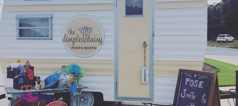 Connie Plilips, Setup Sunday was a huge success for The Dimpled Daisy Photo Booth!! We were a spotlight for Dressing Dreams of Hartwell photo shoot