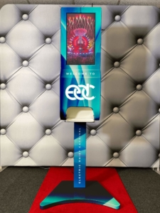 ad kiosk hand sanitizer display edc